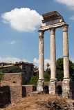 Temple of Castor and Pollux Stock Photography