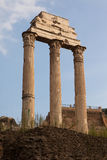 The Temple of Castor and Pollux Stock Image