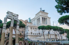 Temple of Castor and Pollux Royalty Free Stock Photography