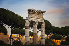 Temple of Castor and Pollux Stock Image