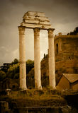 Temple of Castor and Pollux Stock Photos