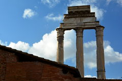 The Temple of Castor and Pollux Royalty Free Stock Image