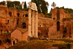 The Temple of Castor and Pollux Stock Photos