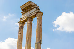 Temple of Castor and Pollux in Rome, Italy Royalty Free Stock Images