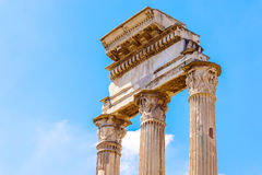 Temple of Castor and Pollux in Rome, Italy Royalty Free Stock Photography