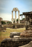 Temple of Castor and Pollux Royalty Free Stock Photos