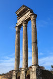 Temple of Castor and Pollux Royalty Free Stock Images