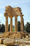 Temple of Castor and Pollux, Valley of the Temples Royalty Free Stock Photography