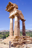 Temple of Castor and Pollux, Valley of the Temples Stock Image