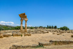 Temple of Castor and Pollux in the Valley of Temples - Agrigento, Sicily, Italy Royalty Free Stock Image