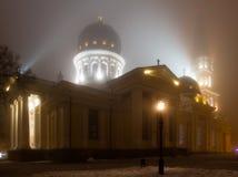Temple, cathédrale de transfiguration, la place de cathédrale dans le f Image stock