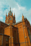 Temple. Catholic church against the sky Royalty Free Stock Images