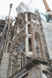 Sagrada Familia. Construction. Photo stock