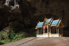 Temple in cave Royalty Free Stock Photography