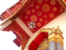 Temple ceiling decoration Thai traditional art Stock Images