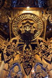 Temple ceiling with mythical sculptures Royalty Free Stock Photography