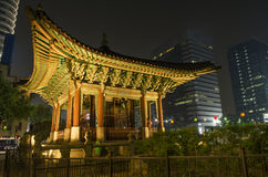 Temple in central seoul south korea Royalty Free Stock Images