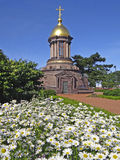 Temple-chapel of the Holy Trinity. St. Petersburg. Russia. Stock Image