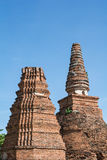 Temple & Chedi at Ayutthaya, unseen of Thailand. Impressive & amazing at Ayuthaya of Thailand stock photography