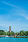 Temple & Chedi at Ayutthaya, unseen of Thailand. Impressive & amazing at Ayuthaya of Thailand stock image