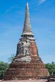 Temple & Chedi at Ayutthaya, unseen of Thailand. Impressive & amazing at the Wat Phra Mahathat ayutthaya of thailand stock photography