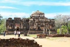 Temple chez Polonnaruwa, Sri Lanka Photos libres de droits