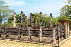 Temple chez Polonnaruwa, Sri Lanka Images libres de droits