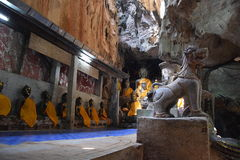 Temple Chiang Dao Thailand. Rock Temple Chiang Dao Thailand with Buddha statues Royalty Free Stock Images