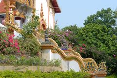 Temple in Chiang Mai. Stairs in the beautiful temple in chiang mai, Thailand Stock Images