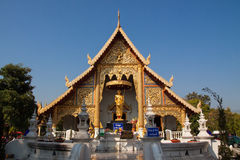 Temple in Chiang Mai. Temples in Chiang Mai, with a clear sky day Stock Photos