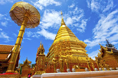 Temple in Chiang Mai, Thailand. Royalty Free Stock Photo
