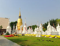 Buddhist Temple in Thailand. Wat Suan Dorg, a temple in Chiang Mai, Thailand Stock Images