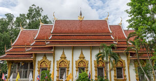 Temple in Chiang Rai with faith Thailand Jul 2016 Royalty Free Stock Photo