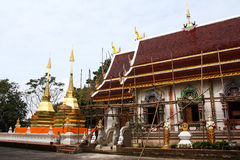 Temple in Chiang Rai. Temples was renovated , Chiang Rai Royalty Free Stock Images
