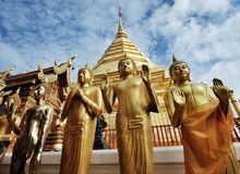 Temple of chiangmai. Landmark of thailand stock photography