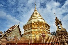 Temple of chiangmai. Landmark of thailand royalty free stock photos