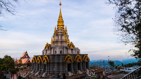 Temple At Chiangrai Thailand. With nice sky Royalty Free Stock Photography