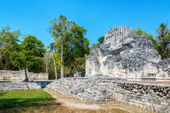 Temple in Chicanna, Mexico stock photography