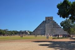 Temple at Chicen Itza Mexico Royalty Free Stock Photo