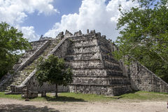 Temple Chichen Itza Mexico Royalty Free Stock Photography