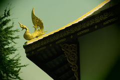Temple, Chiengmai. Decorative part that looks like a bird on the roof corner Royalty Free Stock Photography