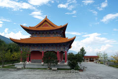Temple in China with blue sky Stock Photo