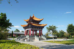 Temple in China with blue sky Royalty Free Stock Photo