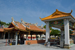 Temple in China with blue sky Royalty Free Stock Images