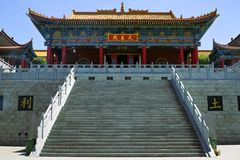 Temple. Chinese traditional temple under the blue sky Royalty Free Stock Photos