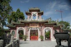 Temple chinois d'entrée, Hoi An, Vietnam Images stock