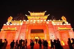Temple chinois de l'an 2011 neuf juste à chengdu Images libres de droits