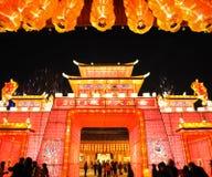 Temple chinois de l'an 2011 neuf juste à chengdu Photo stock