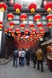 Temple chinois de l'an 2013 neuf juste à Chengdu Photo libre de droits