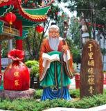 temple chinois de statue Photo stock